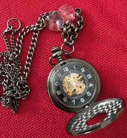 Pocket Watch Necklace by Vintage Fusion Jewels